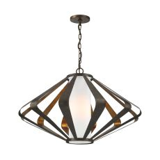 Reflex 1 Light Pendant In Textured Gold Leaf And Mocha