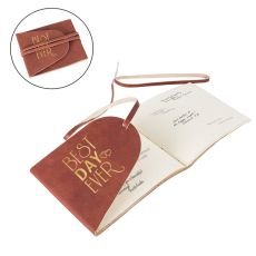 Best Day Ever Leather Guest Book Journal