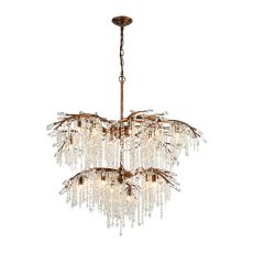 Elia 18 Light Chandelier In Spanish Bronze