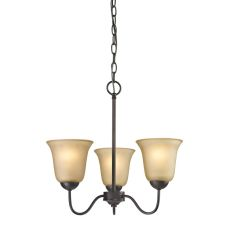 Conway 3 Light Chandelier In Oil Rubbed Bronze
