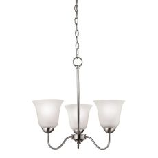 Conway 3 Light Chandelier In Brushed Nickel