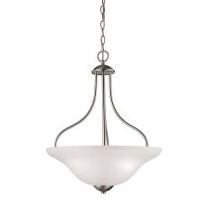 Conway 3 Light Large Pendant In Brushed Nickel