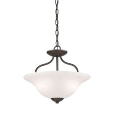 Conway 2 Light Semi-Flush In Oil Rubbed Bronze