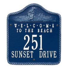 Personalized Welcome To The Beach Plaque, Blue / White