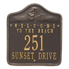 Personalized Welcome To The Beach Plaque, Bronze / Gold