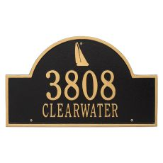 Personalized Sailboat Arch Plaque, Black / Gold