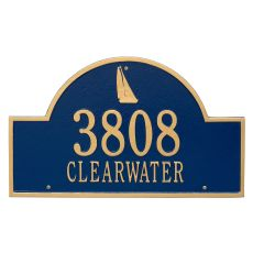 Personalized Sailboat Arch Plaque, Blue / Gold