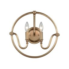 Stanton 2 Light Wall Sconce In Matte Gold