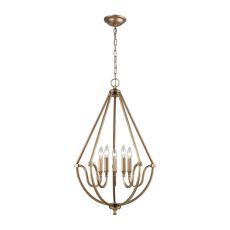 Stanton 5 Light Chandelier In Matte Gold