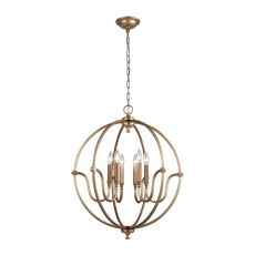 Stanton 6 Light Chandelier In Matte Gold