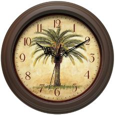 Palm Tree Cabana Clock