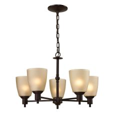 Jackson 5 Light Chandelier In Oil Rubbed Bronze