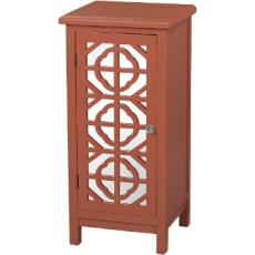 Burnt Orange Mirrored Cabinet