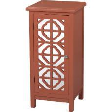 Burnt Orange Mirrored Cabinet