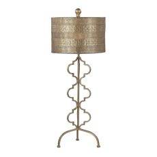 Metal Table Lamp In Gold Leaf