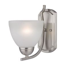 Kingston 1 Light Wall Sconce In Brushed Nickel