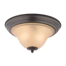 Kingston 2 Light Flush Mount  In Oil Rubbed Bronze