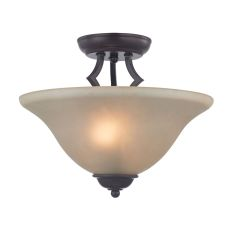 Kingston 2 Light Semi-Flush In Oil Rubbed Bronze