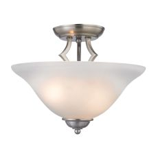 Kingston 2 Light Semi-Flush In Brushed Nickel