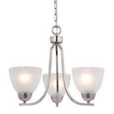 Kingston 3 Light Chandelier  In Brushed Nickel
