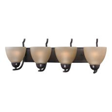 Kingston 4 Light Vanity In Oil Rubbed Bronze