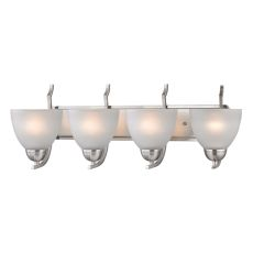 Kingston 4 Light Vanity In Brushed Nickel