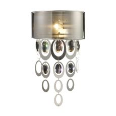 Parisienne 1 Light Wall Sconce In Silver Leaf