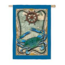 Blue Crab Garden Flag