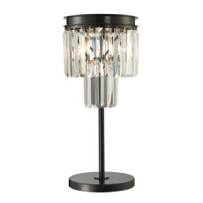 Palacial 1 Light Table Lamp In Oil Rubbed Bronze And Clear Crystal