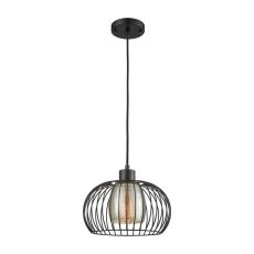 Yardley 1 Light Pendant In Oil Rurbbed Bronze With Mercury Glass