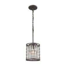 Nadina 1 Light Pendant In Silverdust Iron With Clear Crystal - Includes Recessed Lighting Kit