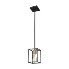 Rigby 1 Light Pendant In Oil Rubbed Bronze And Tarnished Brass