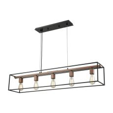 Rigby 5 Light Chandelier In Oil Rubbed Bronze And Tarnished Brass