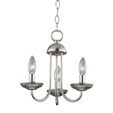 Williamsport 3 Light Mini Chandelier In Brushed Nickel