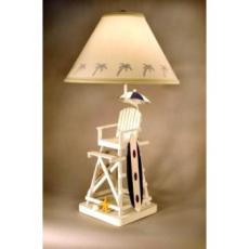 Lifeguard Chair w/ Surfboard Lamp