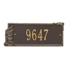 Personalized Seagull Rectangle Plaque, Bronze / Gold
