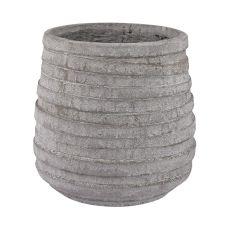 Barn Gray Corrugated Pot