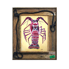 Lobzilla Framed Art Print