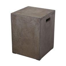 Cubo Square Handled Concrete Stool