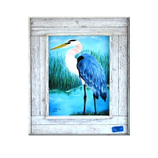 Big Blue Framed Art Print