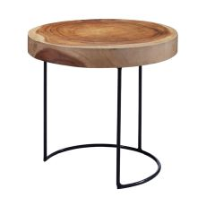 Suar Wood Slab Accent Table