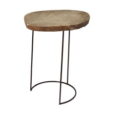Stone Slab And Wire Frame Table - Tall