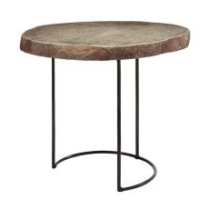 Stone Slab And Wire Frame Table - Short