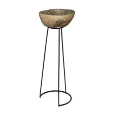 Stone And Wire Frame Pedestal