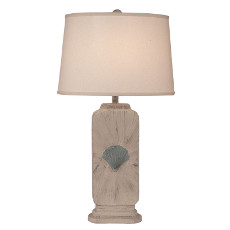 Tall Rectangle Shell Accent Pot Lamp - 31.5""