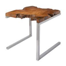 Teak Table With Angular Base