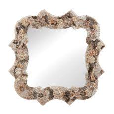 Square Antoinette Shell Mirror