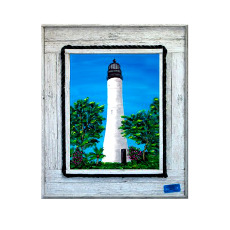 Key West Lighthouse Framed At Print