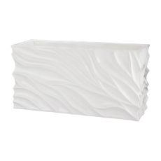 Swirl Table Planter - White