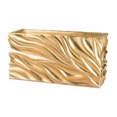 Swirl Table Planter - Gold Leaf